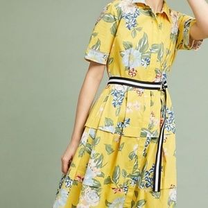 NWT Anthro Donna Morgan Sporty Floral Shirtdress